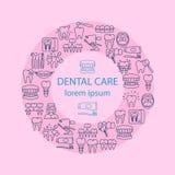 Οδοντικό έμβλημα προσοχής απεικόνιση αποθεμάτων