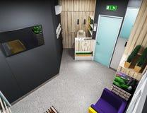 Οδοντικό γραφείο, αίθουσα αναμονής Στοκ Φωτογραφίες