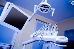 οδοντικό γραφείο τρυπανιών Στοκ Φωτογραφία
