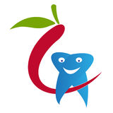 Οδοντικό λογότυπο προσοχής Στοκ Φωτογραφίες