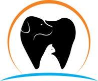 Οδοντικό λογότυπο σκυλιών και γατών κατοικίδιων ζώων ελεύθερη απεικόνιση δικαιώματος