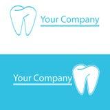 οδοντικό λογότυπο Στοκ Εικόνες