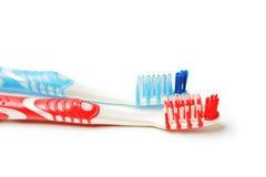 οδοντόβουρτσα δύο Στοκ Εικόνες