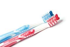 οδοντόβουρτσα δύο Στοκ φωτογραφία με δικαίωμα ελεύθερης χρήσης