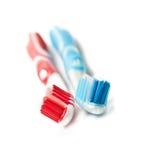 οδοντόβουρτσα δύο Στοκ φωτογραφίες με δικαίωμα ελεύθερης χρήσης