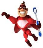 οδοντόβουρτσα superhero διανυσματική απεικόνιση