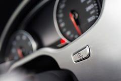 Οδόμετρο σε μηδέν κουμπί στοκ φωτογραφίες