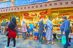 Οδός αγοράς panzdah-ε-Khordad στην Τεχεράνη Στοκ φωτογραφίες με δικαίωμα ελεύθερης χρήσης