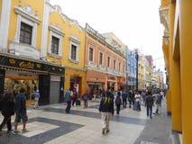 Οδός αγορών Pedestrianised στην πόλη Στοκ φωτογραφίες με δικαίωμα ελεύθερης χρήσης