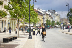 οδός Βαρσοβία Στοκ Εικόνες