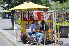 οδός ζωγράφων του Μόντρεα&l Στοκ Φωτογραφία