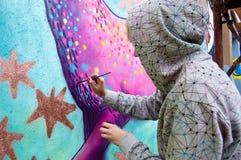 οδός ζωγράφων Στοκ Εικόνα