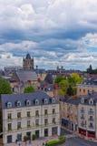 Οδός και αβαείο Αγίου Aubin στη Angers της κοιλάδας της Loire Στοκ φωτογραφίες με δικαίωμα ελεύθερης χρήσης