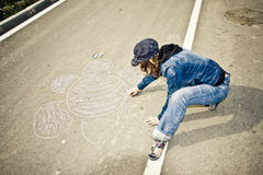 οδός καλλιτεχνών Στοκ εικόνα με δικαίωμα ελεύθερης χρήσης