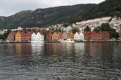 Οδός Μπέργκεν Bryggen στοκ εικόνα με δικαίωμα ελεύθερης χρήσης