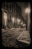 οδός νύχτας βελανιδιών Στοκ φωτογραφία με δικαίωμα ελεύθερης χρήσης