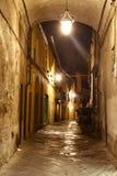 οδός νύχτας της Ιταλίας lucca Στοκ εικόνα με δικαίωμα ελεύθερης χρήσης