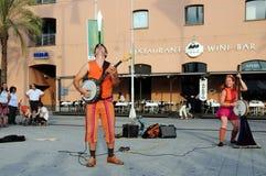 οδός παιχνιδιού banjos καλλιτ Στοκ φωτογραφία με δικαίωμα ελεύθερης χρήσης