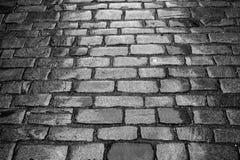 Οδός που στρώνεται με τον κυβόλινθο Στοκ Εικόνες