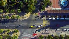 Οδός πόλεων από τον αέρα απόθεμα βίντεο