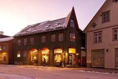 Οδός πόλεων Tromso στοκ φωτογραφίες
