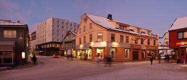 Οδός πόλεων Tromso στοκ εικόνα με δικαίωμα ελεύθερης χρήσης