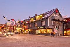 Οδός πόλεων Tromso στοκ εικόνες