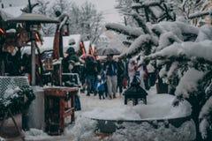 Οδός σε Brunico κατά τη διάρκεια του χειμώνα Στοκ φωτογραφίες με δικαίωμα ελεύθερης χρήσης