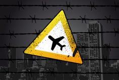 οδός σημαδιών αερολιμένων διανυσματική απεικόνιση
