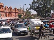 οδός σκηνής της Ινδίας Jaipur Rajasthan Στοκ Εικόνες