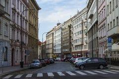 Οδός στην παλαιά πόλη της Πράγας Στοκ Εικόνα