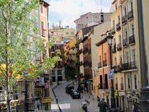 Οδός στην πόλη Ισπανία της Μαδρίτης Στοκ Φωτογραφίες