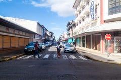 Οδός στο κέντρο OD Cayenne στοκ φωτογραφία με δικαίωμα ελεύθερης χρήσης
