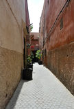 Οδός στο medina του Μαρακές στοκ εικόνες