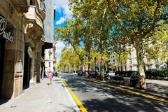 Οδός της Βαρκελώνης στις 13 Σεπτεμβρίου 2012 Στοκ Εικόνα