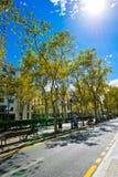 Οδός της Βαρκελώνης στις 13 Σεπτεμβρίου 2012 Στοκ Φωτογραφία