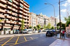 Οδός της Βαρκελώνης στις 13 Σεπτεμβρίου 2012 Στοκ Φωτογραφίες