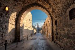 Οδός της Ιερουσαλήμ στην παλαιά πόλη, Ισραήλ Στοκ φωτογραφία με δικαίωμα ελεύθερης χρήσης