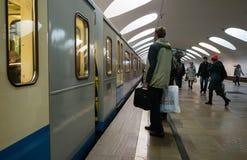 Οδός της Μόσχας στα ξημερώματα Στοκ εικόνες με δικαίωμα ελεύθερης χρήσης