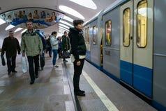Οδός της Μόσχας στα ξημερώματα Στοκ φωτογραφίες με δικαίωμα ελεύθερης χρήσης