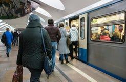 Οδός της Μόσχας στα ξημερώματα Στοκ Εικόνες