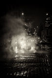 Οδός της Πράγας νύχτας στοκ εικόνες