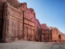 Οδός της Petra των προσόψεων Στοκ Φωτογραφίες