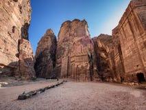 Οδός της Petra των προσόψεων Στοκ Εικόνες