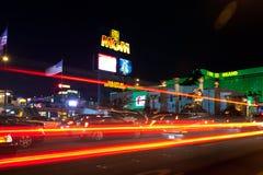 Οδός του Λας Βέγκας τη νύχτα Στοκ Φωτογραφίες
