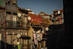 Οδός του Πόρτο στην Πορτογαλία typicall και colorfull στοκ εικόνα με δικαίωμα ελεύθερης χρήσης