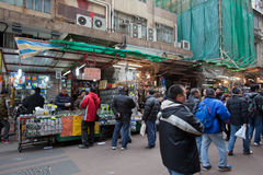 οδός του Χογκ Κογκ apliu στοκ φωτογραφίες