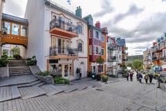 Οδός του χωριού mont-Tremblant αγορών που αφήνεται κύρια στοκ φωτογραφίες