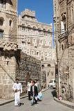 οδός Υεμένη σκηνής sanaa πόλεων Στοκ φωτογραφία με δικαίωμα ελεύθερης χρήσης
