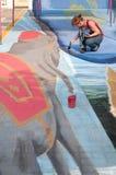 οδός φεστιβάλ chiangmai τέχνης Στοκ Εικόνες